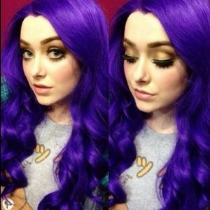"""💫PURPLE 24"""" LACE FRONT WIG💫 *NWT* 🆕🆕🆕"""